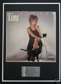 TINA TURNER - Framed LP Cover - PRIVATE DANCER